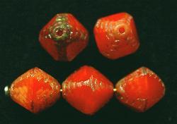 Best.Nr.:26086 geschliffene Glasperlen Multi Cut Beads mit picasso finish