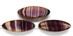 Best.Nr.:67254 Glasperlen / Table Cut Beads geschliffen violett mit picasso finish,  hergestellt in Gablonz / Tschechien