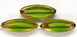 Best.Nr.:67252 Glasperlen / Table Cut Beads geschliffen kristall grün mit picasso finish,  hergestellt in Gablonz / Tschechien
