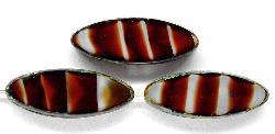 Best.Nr.:67251 Glasperlen / Table Cut Beads geschliffen dunkelrot weiß mit picasso finish,  hergestellt in Gablonz / Tschechien