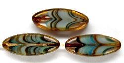 Best.Nr.:67231 Glasperlen / Table Cut Beads geschliffen mit picasso finish,  hergestellt in Gablonz / Tschechien