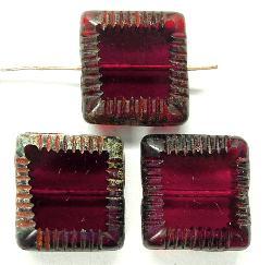 Best.Nr.:67321 Glasperlen / Table Cut Beads geschliffen mit Travertin-Veredelung