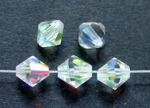 Best.Nr.:31041 mc-Schliff Glasperlen bicon kristall mit AB