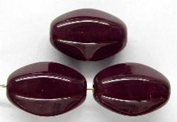 Best.Nr.:46198 Glasperlen Oliven aubergine opak, hergestellt in Gablonz / Böhmen