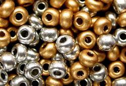 Best.Nr.:07060 Rocailles von Ornella Preciosa  metallic gold silber MIX