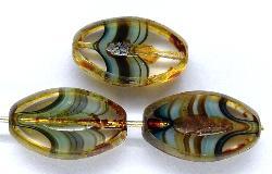 Best.Nr.:67246 Glasperlen / Table Cut Beads geschliffen mit picasso finish,  hergestellt in Gablonz / Tschechien
