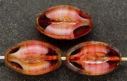 Best.Nr.:67235 Glasperlen / Table Cut Beads geschliffen mit picasso finish,  hergestellt in Gablonz / Tschechien