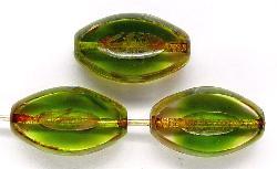 Best.Nr.:67242 Glasperlen / Table Cut Beads geschliffen mit picasso finish,  hergestellt in Gablonz / Tschechien