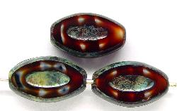 Best.Nr.:67243 Glasperlen / Table Cut Beads geschliffen mit picasso finish,  hergestellt in Gablonz / Tschechien