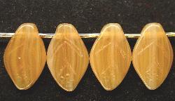 Best.Nr.:50161 Glasperlen Blätter beigebraun meliert