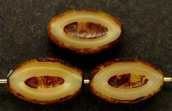 Best.Nr.:67163 Glasperlen / Table Cut Beads geschliffen mit picasso finish,  hergestellt in Gablonz / Tschechien