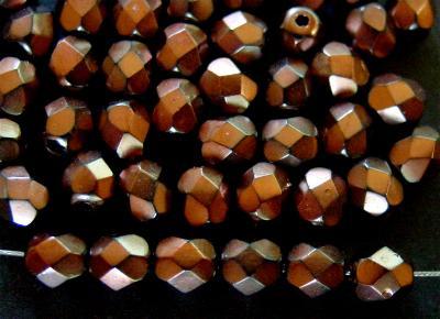 Best.Nr.:24081 facettiert Glasperlen mit Wachsüberzug bronze