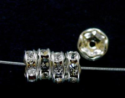 Best.Nr.:32004 Strassrondell silberfarben Strasssteinchen kristall