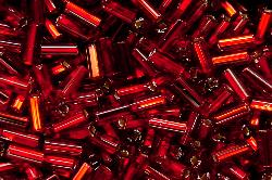 Best.Nr.:21036 Glasstifte rot mit Silbereinzug