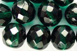 Best.Nr.:27294 facettierte Glasperlen smaragdgrün