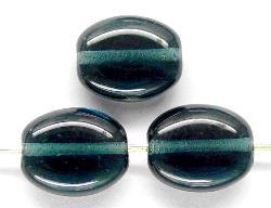 Best.Nr.:46207 Glasperlen Olive flach blaugrau