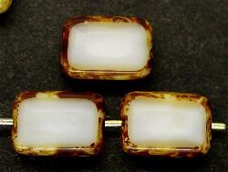 Best.Nr.:67140 Glasperlen / Table Cut Beads geschliffen mit Travertin-Veredelung