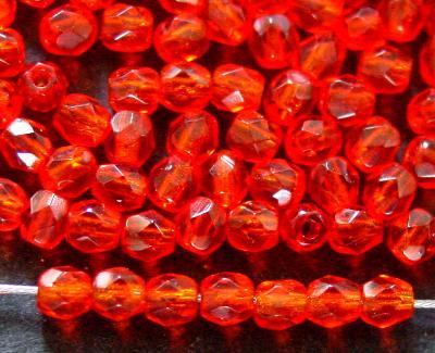 Best.Nr.: 27024 facettierte Glasperlen orangerot