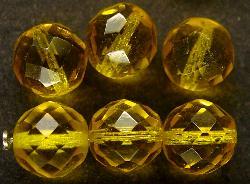 Best.Nr.:27354 facettierte Glasperlen gelb
