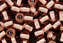 Best.Nr.:22269 Glasperlen rund rosa transp., hergestellt in Gablonz / Tschechien
