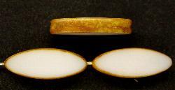 Best.Nr.:67261 Glasperlen / Table Cut Beads geschliffen mit picasso finish,  hergestellt in Gablonz / Tschechien