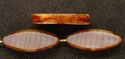 Best.Nr.:67258 Glasperlen / Table Cut Beads geschliffen Perlettglas dusty silk mit picasso finish,  hergestellt in Gablonz / Tschechien