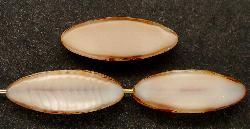 Best.Nr.:67039 Glasperlen / Table Cut Beads geschliffen Perlettglas silk mit picasso finish,  hergestellt in Gablonz / Tschechien