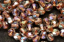 Best.Nr.:29017 facettierte Glasperlen kristall mit Kupfereinzug und AB