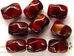 Best.Nr.:57292 Glasperlen rot meliert
