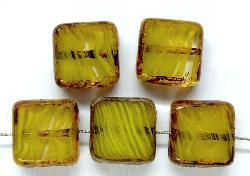 Best.Nr.:67067 Glasperlen / Table Cut Beads geschliffen mit picasso finish,  hergestellt in Gablonz / Tschechien