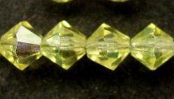 Best.Nr.:31003 mc-Schliff Glasperlen lemon mit AB bicon