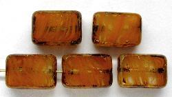 Best.Nr.:67269 Glasperlen / Table Cut Beads geschliffen mit Travertin-Veredelung