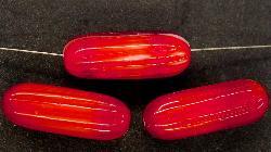 Best.Nr.:48030 Glasperlen Stäbchen  rot mit weißem Kern