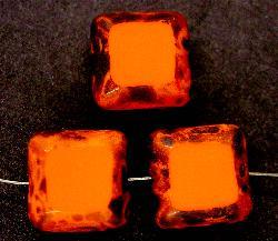 Best.Nr.:67276 Glasperlen / Table Cut Beads geschliffen mit Travertin-Veredelung