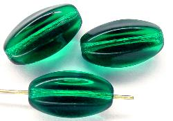 Best.Nr.:46162 Glasperlen smaragdgrün sechseckige Olive