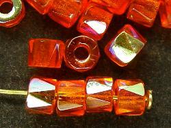 Best.Nr.:28235 Glasperlen facettiert orange mit AB