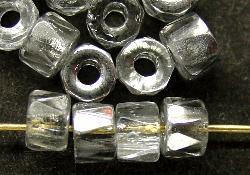 Best.Nr.:28231 Glasperlen facettiert kristall mit Silber Veredelung