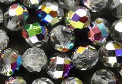 Best.Nr.:28294 facettierte Glasperlen kristall mit metallic Veredelung