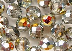 Best.Nr.:28295 facettierte Glasperlen leicht rauchig mit metallic Veredelung