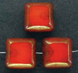 Best.Nr.:67393 Glasperlen / Table Cut Beads geschliffen mit Bronze-Veredelung