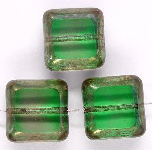Best.Nr.:67390 Glasperlen / Table Cut Beads geschliffen mit Bronze-Veredelung