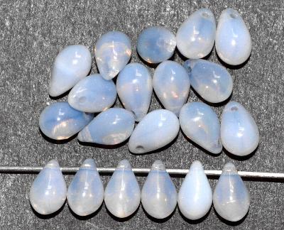 Best.Nr.:34156 Glasanhänger Herz mit Öse,  petrol transp mattiert (frostet),  hergestellt in Gablonz / Tschechien