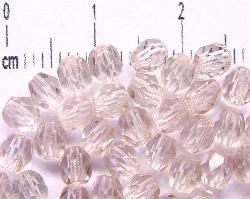 Best.Nr.:27197 facettierte Glasperlen rauchviolett hell transp.,  hergestellt in Gablonz / Tschechien