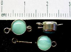 Best.Nr.:39015 Kettenverschlüsse mit Glasstein Gablonz/Böhmen ca.1930 hergestellt