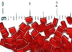 Best.Nr.:21046 Stiftperlen hergestellt von Preciosa Ornella Tschechien,     rot transp.,
