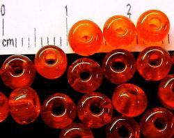 Best.Nr.:08038 Rocailles von Ornella Preciosa Tschechien,  orange transparent