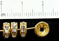 Best.Nr.:32026 Strassrondell  goldfarben  Strasssteinchen kristall