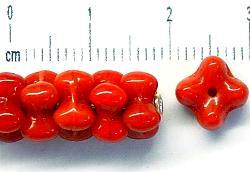 Best.Nr.:50128 Glasperlen Blüten rotbraun opak