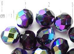 Best.Nr.:28149 facettierte Glasperlen  violett mit AB