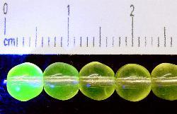 Best.Nr.:22138 Glasperlen hellgelb transparent Uranglas